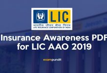 Insurance Awareness PDF for LIC AAO 2019