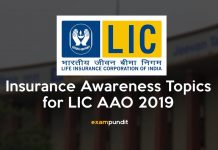 Insurance Awareness Topics for LIC AAO 2019
