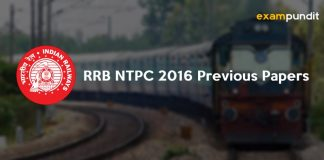 RRB NTPC 2016 Previous Papers