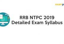RRB NTPC 2019 Exam Syllabus