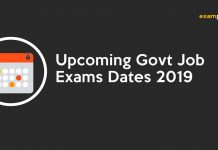 Upcoming Govt Job Exams Dates 2019