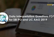 Data Interpretation Questions for SBI PO and LIC AAO 2019