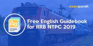 Free English Guidebook for RRB NTPC 2019