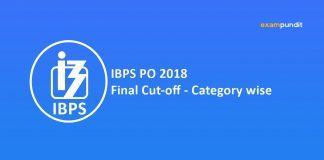 IBPS PO 2018 Final Cut-off