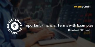Important Financial Terms & Examples