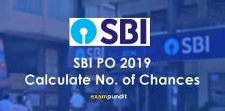 SBI PO 2019 No of Chances