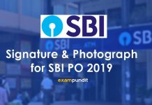 Signature and Photograph Format for SBI PO 2019