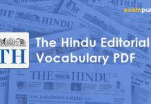 The Hindu Editorial Vocabulary PDF