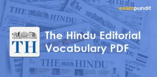 The Hindu Editorial Vocabulary PDF