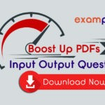 Input Output Questions and Answers PDF