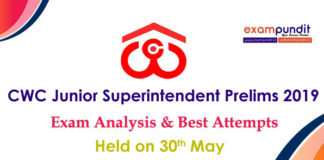 CWC Junior Superintendent Exam Analysis