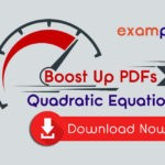 Quadratic Equation Questions PDF