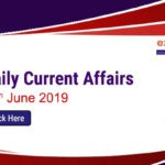 Daily Current Affairs 18th June 2019