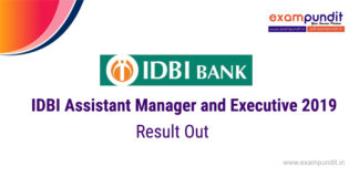 IDBI Assistant Manager And Executive Result 2019 | Check Result Now