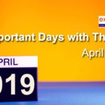 Important Days with Themes April 2019