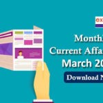Monthly Current Affairs PDF March 2019
