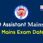 EPFO Assistant Mains Exam Date 2019