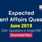 Expected Questions from June 2019 Current Affairs