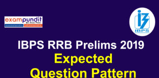 IBPS RRB Prelims Expected Pattern