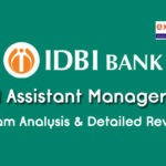IDBI Assistant Manager Exam Analysis 2019
