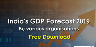 India GDP Forecast 2019 by Various Organisations PDF