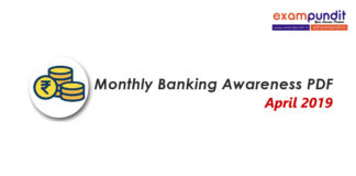 Monthly Banking Awareness PDF April 2019