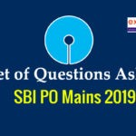 Questions asked in SBI PO Mains Exam