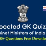 Expected GK Quiz on Cabinet Ministers of India 2019