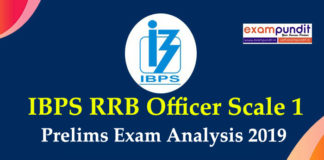 IBPS RRB Officer Scale 1 Exam Analysis 2019