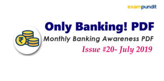 Monthly Banking Awareness PDF July 2019
