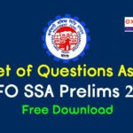 Questions Asked in EPFO SSA Prelims 2019