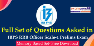 Questions Asked in IBPS RRB PO Prelims 2019