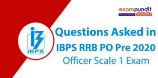 Questions Asked in IBPS RRB PO Prelims