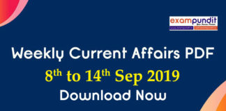 Weekly Current Affairs PDF Download 2019