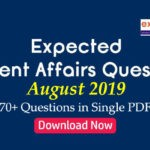 Expected Questions from August 2019 Current Affairs