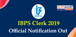 IBPS Clerk 2019 Official Notification Out