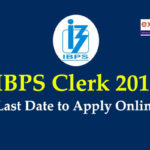 IBPS Clerk last date to apply 2019