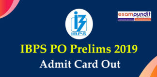 IBPS PO Admit Card Out 2019