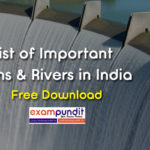 List of Important Dams in India PDF