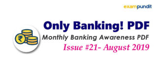 Monthly Banking Awareness PDF August 2019