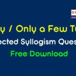 Only a Few Syllogism Questions PDF