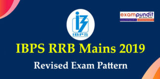 IBPS RRB Mains Revised Exam Pattern 2019