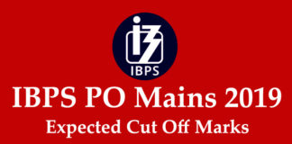 IBPS PO Mains Expected Cut Off 2019