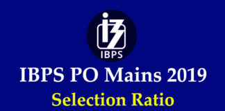 IBPS PO Mains Selection Ratio 2019