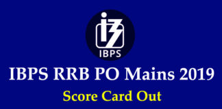 IBPS RRB PO Mains Score Card 2019