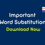 Important One Word Substitution PDF