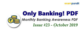 Monthly Banking Awareness PDF October 2019