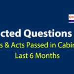 Expected Questions from Latest Bills & Acts Passed in Cabinet