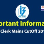 IBPS Clerk Mains Cut Off 2019
