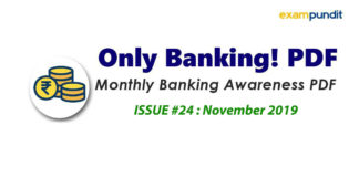 Monthly Banking Awareness PDF November 2019